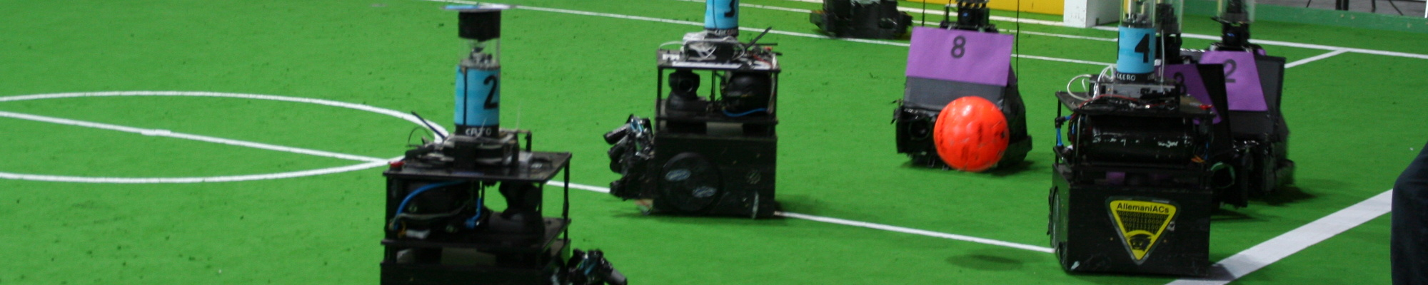 AllemaniACs' Caesar as a soccer robot before moving on to RoboCup@Home (RoboCup 2006, Bremen, Germany)